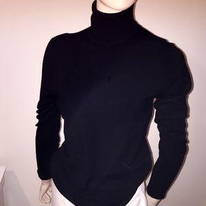 BCBGMaxazria Black Turtle Neck Sweater